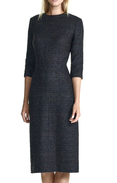 Boucle Tailored Dress with Bracelet Length Sleeve