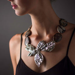 Basil Leaf Necklace - Joan Hornig Jewelry