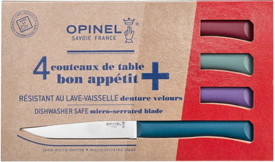 Opinel Bon Appetit+ Set of 4 Steak knives - Glam