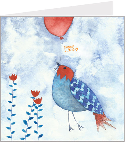 bird biorthday card