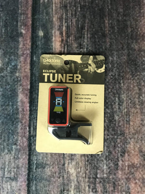 D'Addario Tuner D'Addario Eclipse PW-CT-17RD Clip-On Headstock Tuner- Red