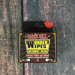ernie ball Polish Cloth Ernie Ball Wonder Wipes Instrument Polish 6 Pack