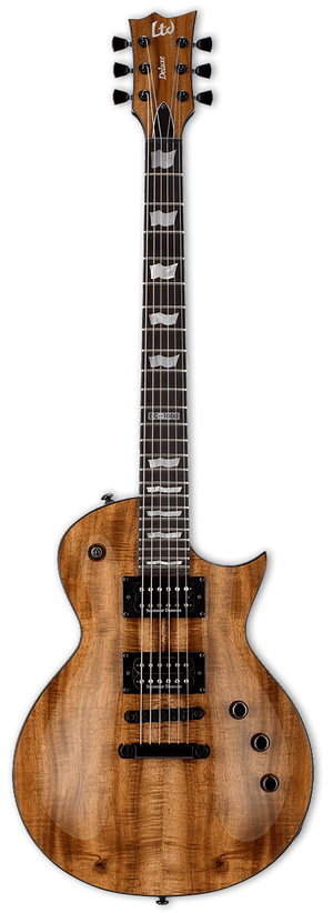 ESP/LTD Electric Guitar With Hard Shell Case ESP/LTD Right Handed EC - 1000 KOA Electric Guitar