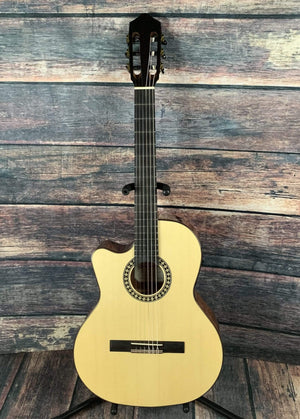 Kremona Classical Guitar Used Kremona Left Handed Fandango FG630CW Crossover Classical Guitar with Case