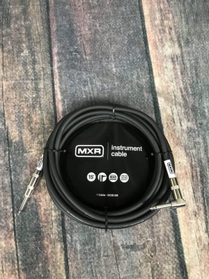 MXR Cable MXR DCIS15R 15ft Straight to Right Angle Instrument Cable