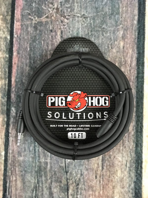 Pig Hog adapter Pig Hog Solutions PHX35-10 10ft Headphone Extension Cable, 3.5mm Adapter