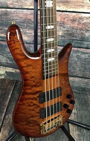 Spector Electric Bass Spector Euro 5 LX 5 String Electric Bass Guitar- Amber