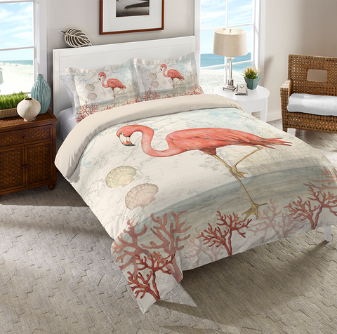 Coastal Flamingo Comforter