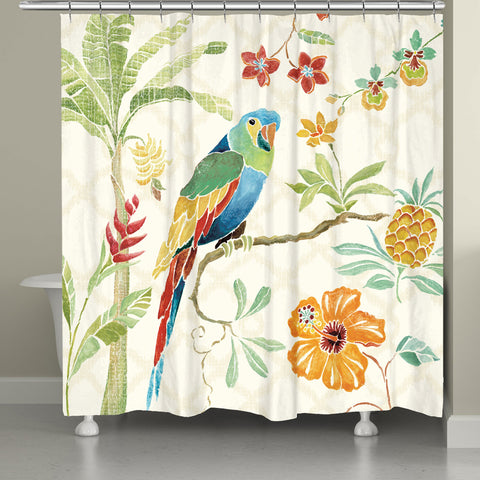 Exotic Bird in Paradise Shower Curtain
