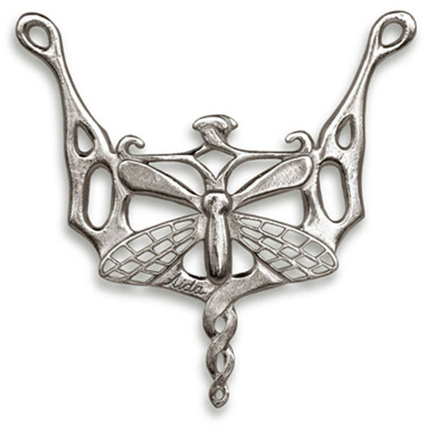 Libellula Dragonfly Pendant - 8 cm - Handcrafted in Italy - Pewter/Britannia Metal