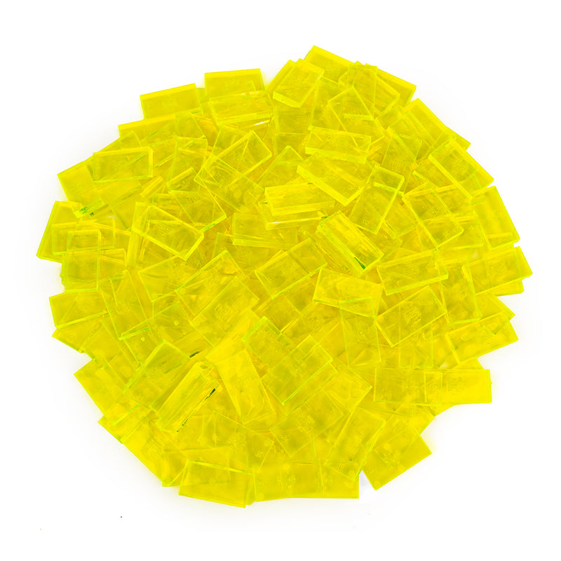 Bulk Dominoes - Clear Neon Yellow