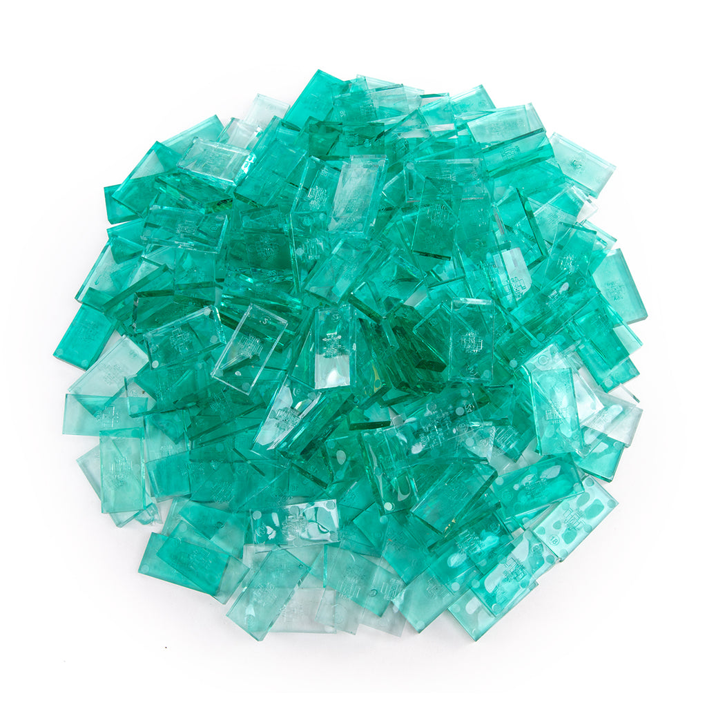 Bulk Dominoes - Clear Teal