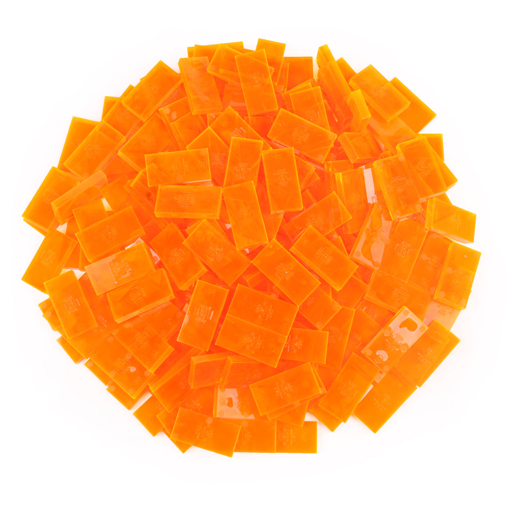 Bulk Dominoes - Clear Orange