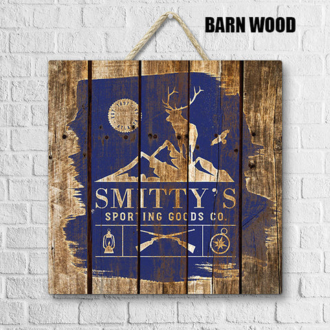 Barrel Top Wood Sign | BH21