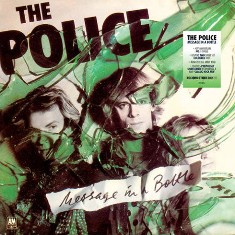 "The Police / Message In A Bottle limited edition RSD 2 x 7"" coloured vinyl"