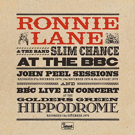 Ronnie Lane and The Band Slim Chance at the BBC / Limited Edition RSD 2LP coloured vinyl