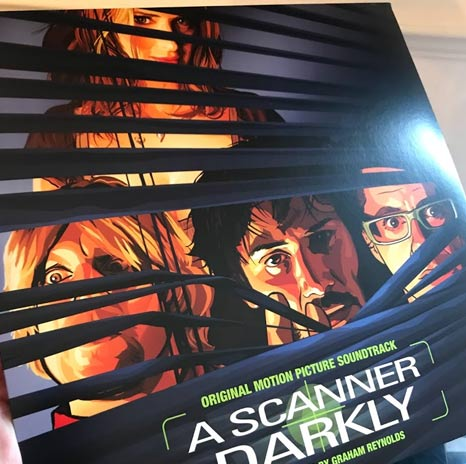 A Scanner Darkly soundtrack - green/black marbled vinyl