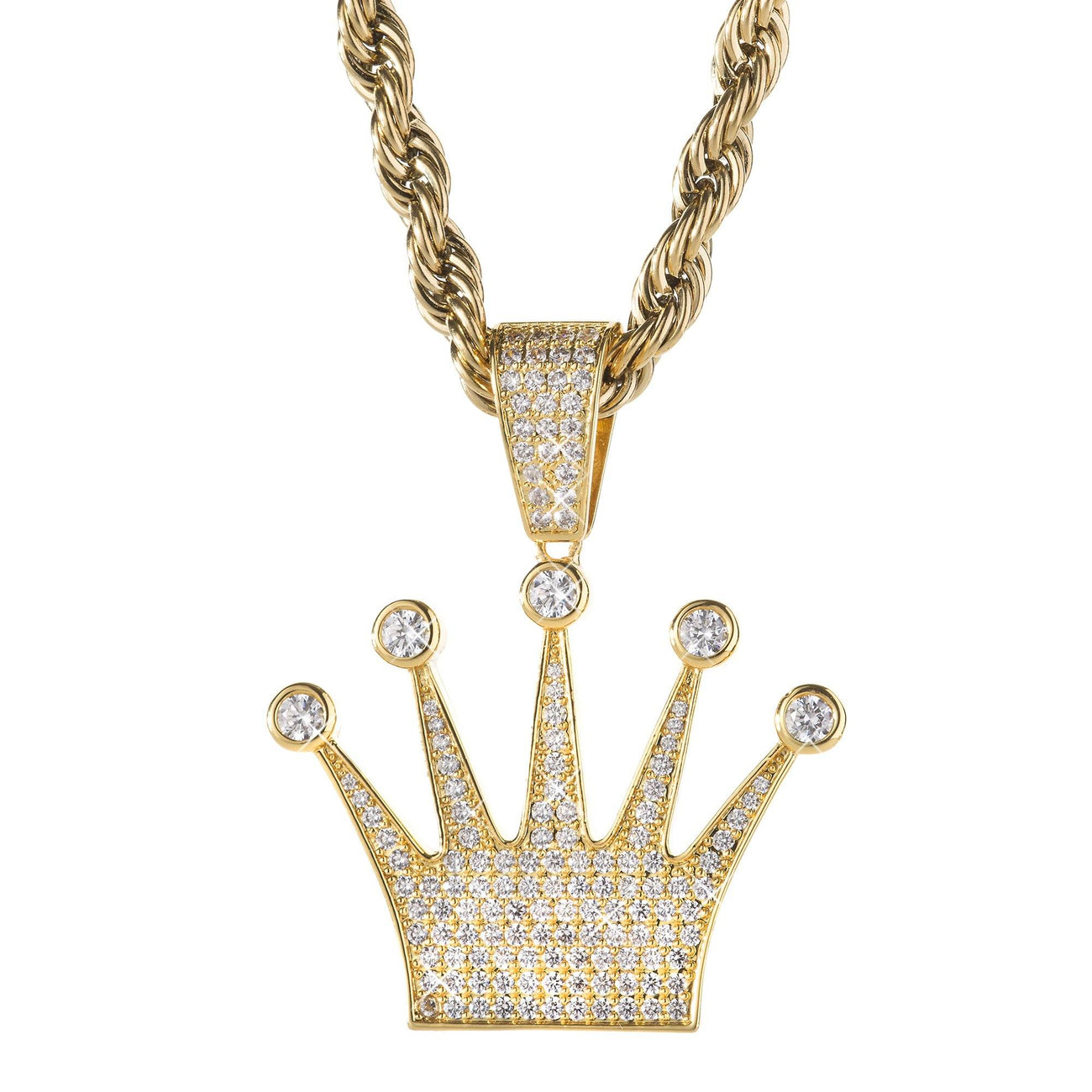 Necklace - King Crown Pendant