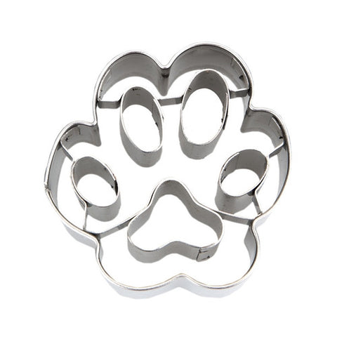 Mini Paw Print 4.5cm with Embossed Detail Cookie Cutter-Cookie Cutter Shop Australia