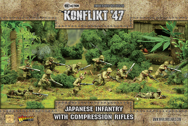 Japanese Infantry with compression rifles