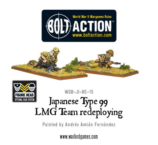 Japanese Type 99 LMG Team Redeploying