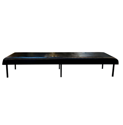 Mid Century Large Metal Upholstered Bench