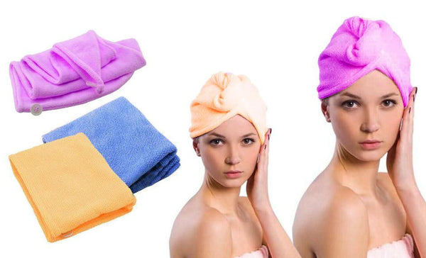 tower hair drying cap