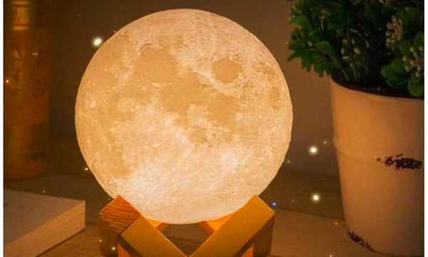 Brightness And Color Tone Changeable Touch Sensitive Full Moon Light Lamp