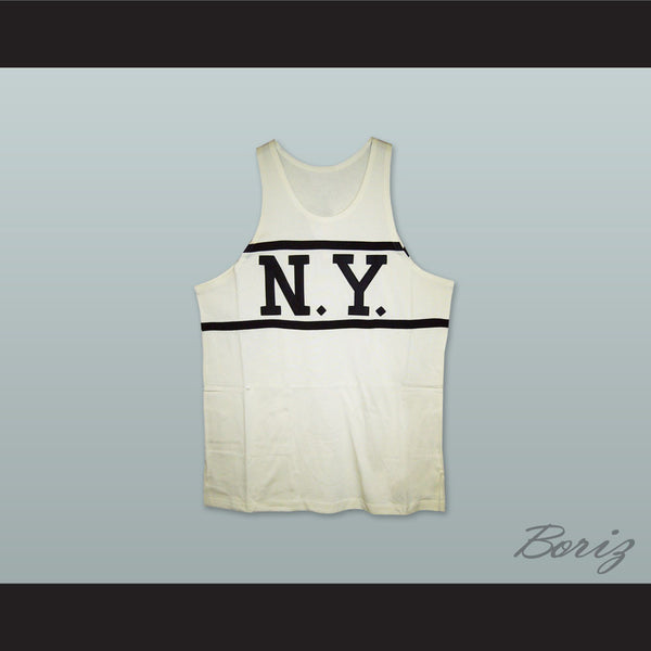 1920-21 New York Whirlwinds 9 White Basketball Jersey - borizcustom - 1