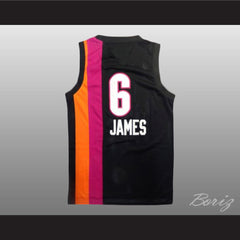 Lebron James 6 Old School Floridians Basketball Jersey Stitch Sewn New - borizcustom
