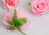 ARTIFICIAL ROSE HEADS - PINK (WHOLESALE PACK OF 100 HEADS)