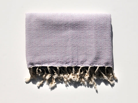 "Double-Thread ""Mirab"" Bath Towel / Throw in Lilac"