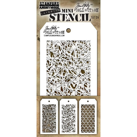 Doodle - Heartstruck - Trellis ... this Tim Holtz layering stencils are the miniature sized versions