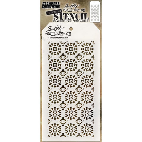 Rosette layering stencil by Tim Holtz