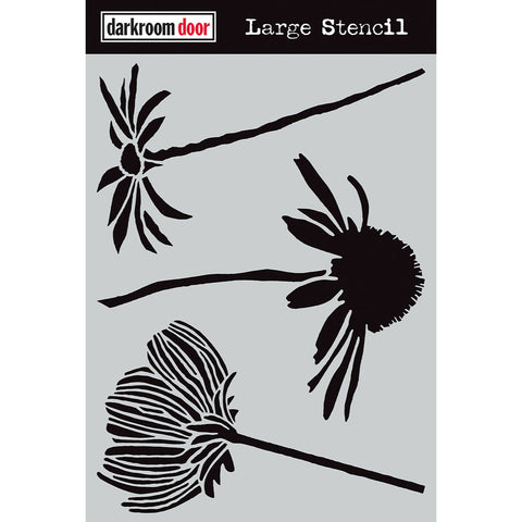 Darkroom Door Stencil - Large - Carved Flowers