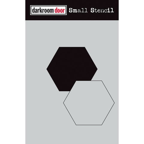 Hexagon Mask and Stencil  both positive and negative geometric shapes for art by Darkroom Door