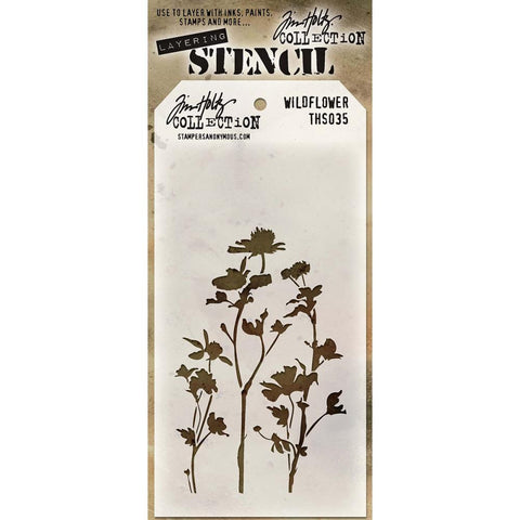 Tim Holtz Layering Stencil - Wildflower