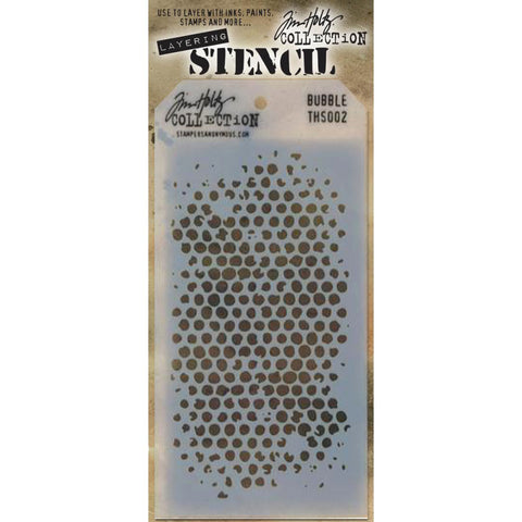 Bubble ... layering stencil by Tim Holtz (THS002)