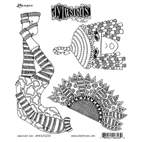 Dylusions Cling Rubber Stamps - Sunshine Girl