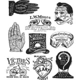 stampers anonymous and Art gone Wild - Tim Holtz Cling Stamps - Eclectic Adverts cms372