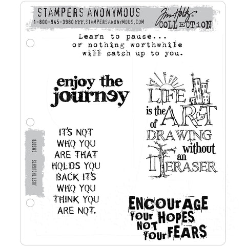 Just Thoughts ... set of 5 (five) rubber stamps by Tim Holtz (cms078).