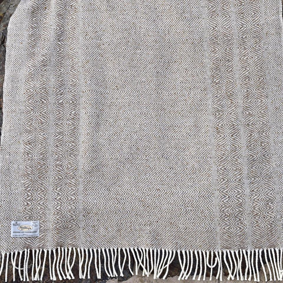 Studio Donegal Undulating Twill Small Wool Throw