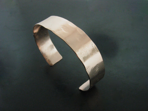 hammered cuff #3 - rose gold