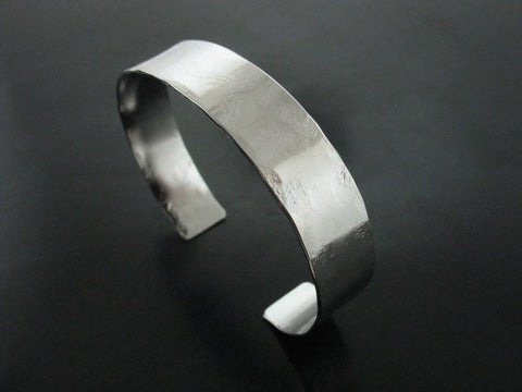 Hammered Cuff #3 - White Gold