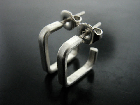 Number 40  Hoops - Sterling Silver