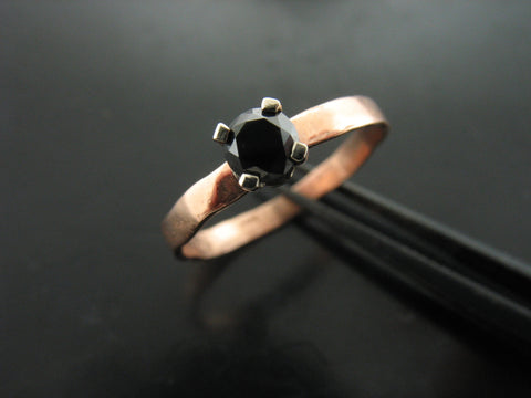 Gillian's Ring with Black Diamond