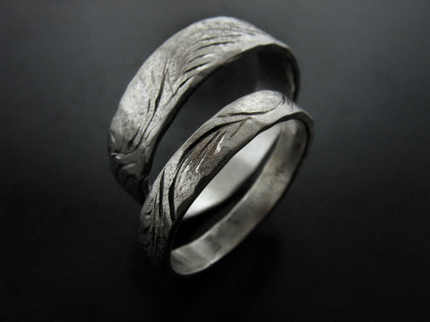 Mariko and Thomas' Wedding Rings- White Gold