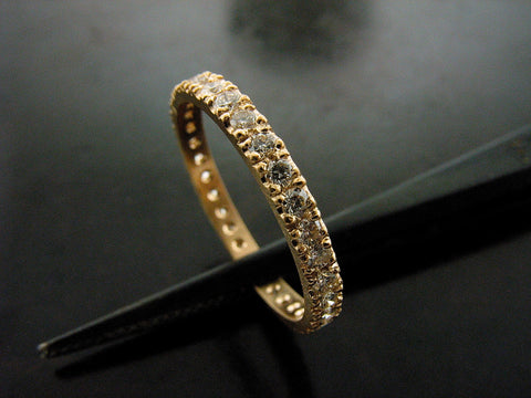 REBECCA'S WEDDING RING- YELLOW GOLD