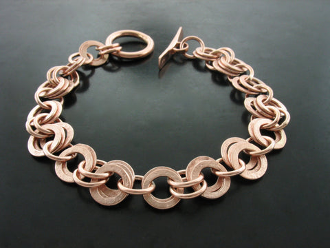 Monk Link Bracelet- Rose Gold