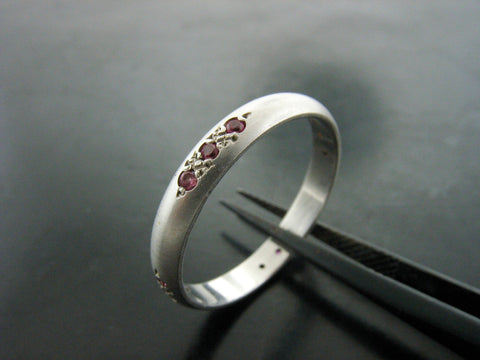 Danube with Twelve Pink Sapphires Ring